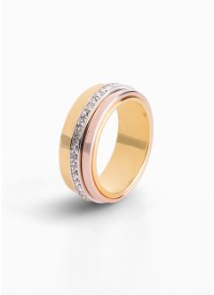 Anello con cristalli Swarovski®, bpc bonprix collection