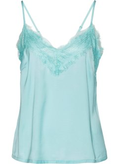 Top in satin con pizzo, bpc selection premium