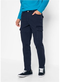 Pantaloni cargo elasticizzati slim fit straight, bpc bonprix collection
