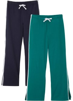 Pantaloni in jersey (pacco da 2) con cotone biologico, bpc bonprix collection