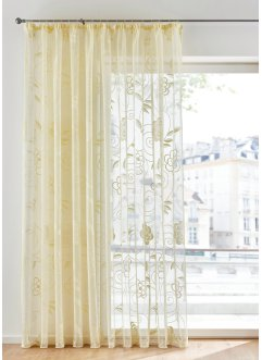 Tenda bianca jacquard a fiori, bpc living bonprix collection