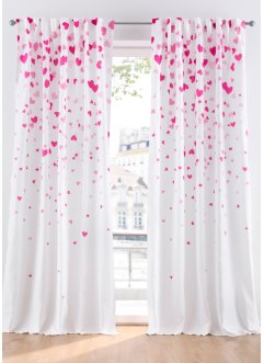Tenda  in microfibra con cuori ( pacco da 1), bpc living bonprix collection