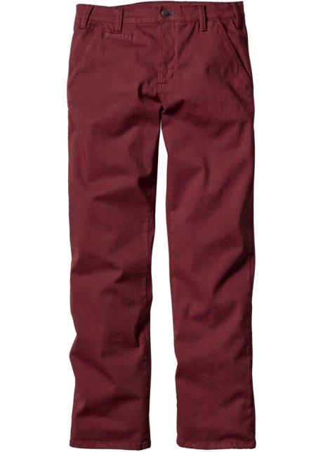 7a9c11bdaf7a Pantalone chino elasticizzato slim fit Bordeaux - bpc bonprix ...