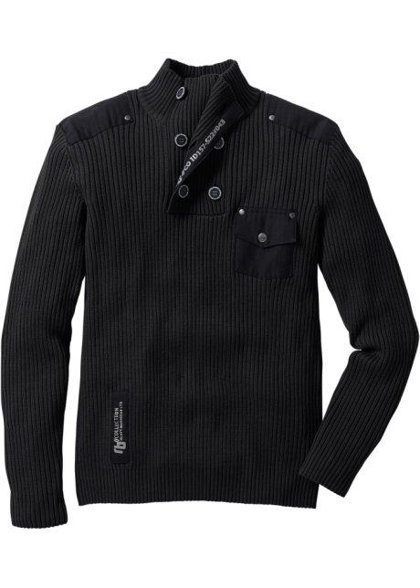 Pullover slim fit Nero - RAINBOW acquista online - bonprix.it 2744b21d43