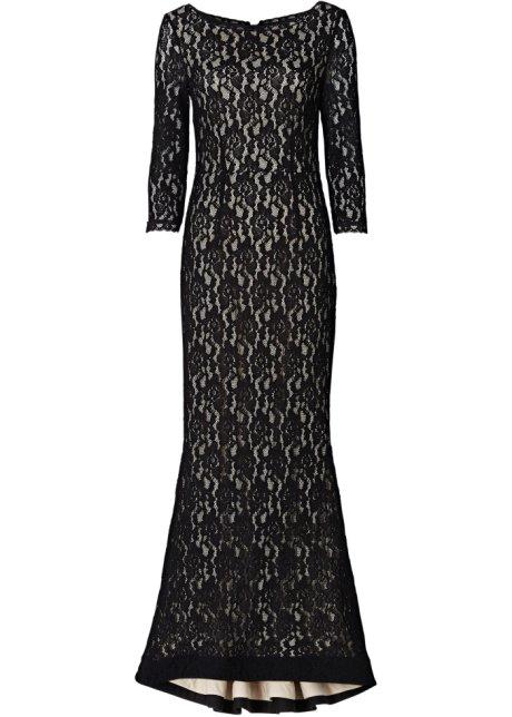 newest collection 92aea 1ad20 Elegante abito lungo in pizzo con scollo a barca
