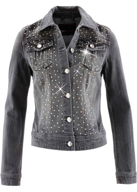 innovative design 6dd34 050ea Giacca di jeans con strass
