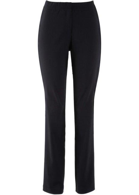 8628f232ee Pantaloni elasticizzati con elastico in vita - Nero