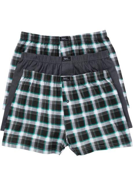 e6fd217315cd55 Boxer larghi in jersey (pacco da 3) A quadri / grigio - Uomo - bpc ...