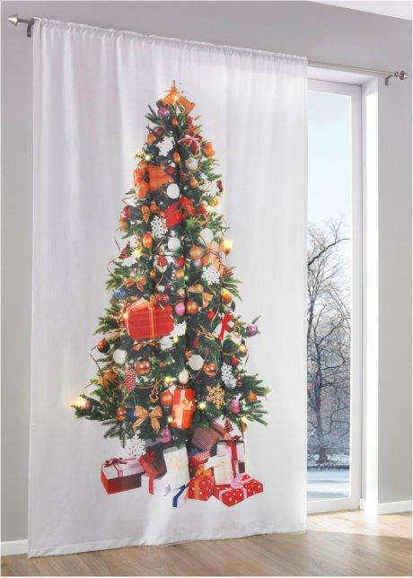 Albero Di Natale Stretto.Tenda Albero Di Natale Con Led Pacco Da 1