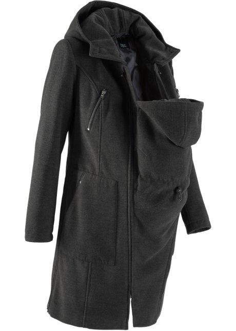 Cappotto prémaman con porta bimbo (per davanti e dietro)