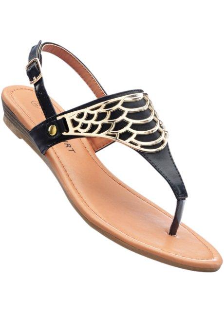 Sandalo in pelle (Nero) - BODYFLIRT Comprar Barato Explorar rxT6u
