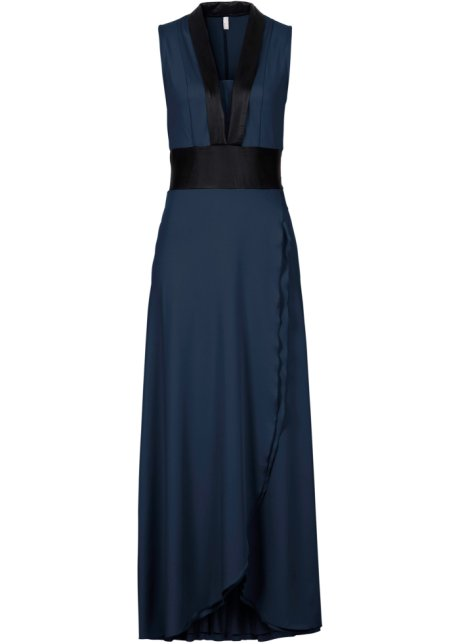 36557b32ade4 Elegante abito lungo senza maniche con fascia decorativa in vita ...