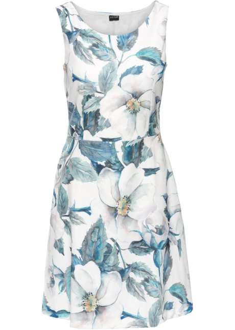 1c0650f4d5dc Abito in jersey a fiori Bianco panna / blu fantasia - Donna - bonprix.it