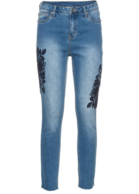 Blu Con Ricamo Jeans Bleached Ordina Bodyflirt Online Floreale PZwWHx1qRn
