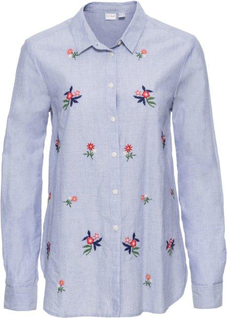 new styles f4f94 af8e1 Camicia con fiori ricamati
