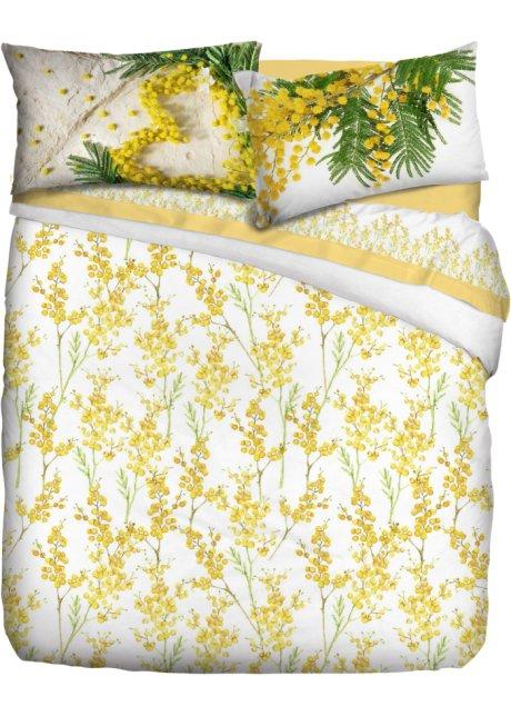 Copripiumino Bonprix.Biancheria Letto Mimosa Giallo Chiaro Bianco Verde Chiaro A Fiori