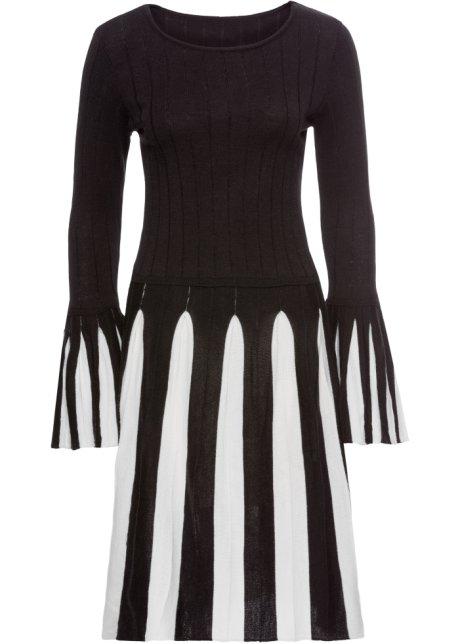 5120051a4e29 Abito in maglia Nero   bianco - BODYFLIRT boutique acquista online ...