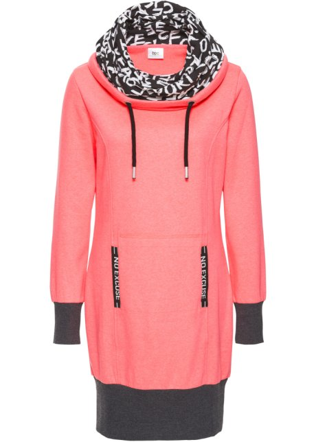 Collection Felpa Abito Salmone Bpc Bonprix In Donna Neon 6Yf7ybg