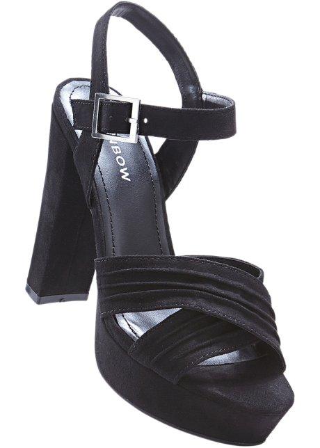 Sandalo con zeppa (Nero) - RAINBOW Comprar Barato Auténtica Venta Asequible Tienda De Liquidación De Descuento En Venta yAnoDWHy