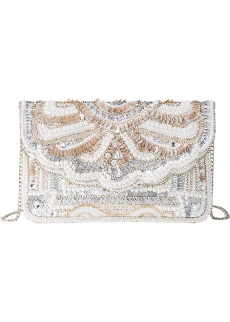 4d35bdfceb Pochette con perle Argento / crema - bpc bonprix collection acquista ...
