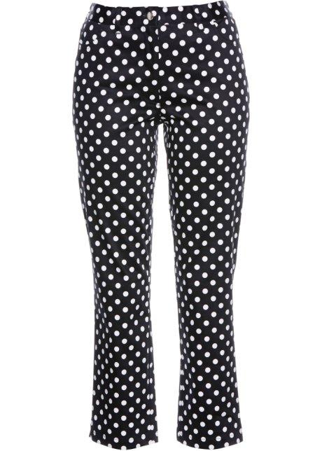Mujer Pantalones Elásticos Blanco Bpc Negro 78 Selección 2EbeHWID9Y