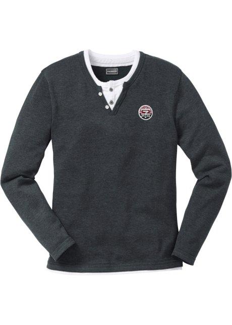 Pullover slim fit Antracite melange - Uomo - bonprix.it 89324f6293