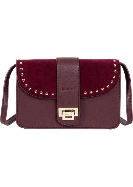 5884b9de94 Borsa a tracolla con borchie Rosso acero - bpc bonprix collection ...