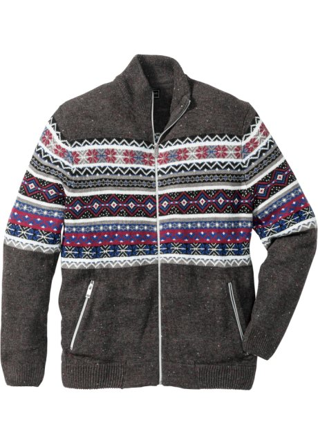 Cardigan in stile norvegese regular fit Antracite melange - bpc ... 505c15174c