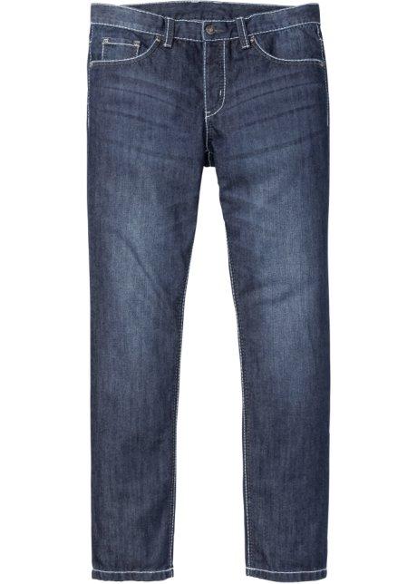Jeans con impunture a contrasto slim fit straight