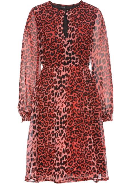 Abito leopardato Rosso   nero leopardato - BODYFLIRT ordina online ... 472b5ea27e6
