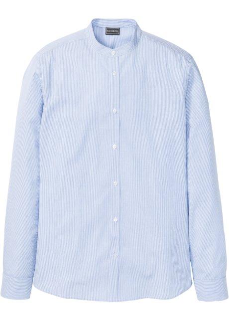 e5f38ee081 Camicia a manica lunga con colletto alla coreana slim fit