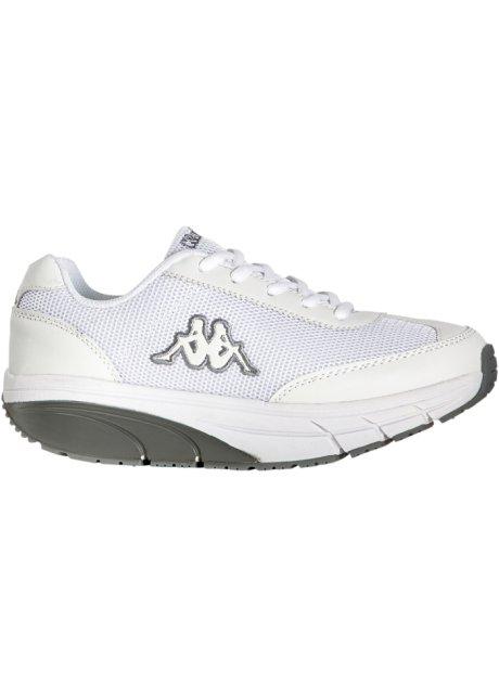 c1b9888b5a9f Confortevole scarpa sportiva con plateau firmata Kappa - Bianco / grigio