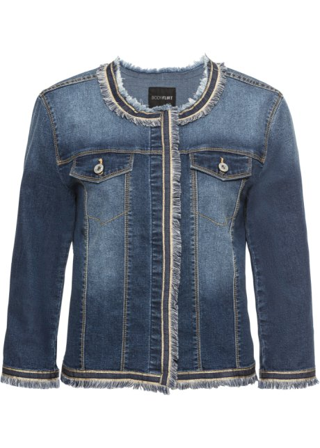 cheap for discount 5687d fbadb Giacca di jeans con frange