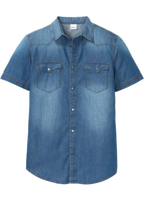 Camicia in jeans a maniche corte slim fit