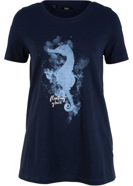 c9b8794faf T-shirt in cotone con cavalluccio marino