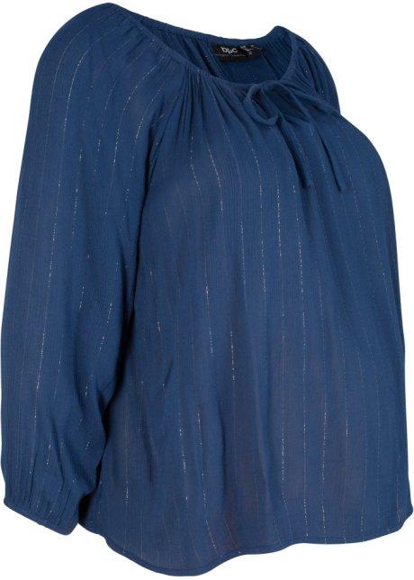 3f7d1ebe4353 Blusa prémaman in tessuto stropicciato Blu notte - bpc bonprix ...