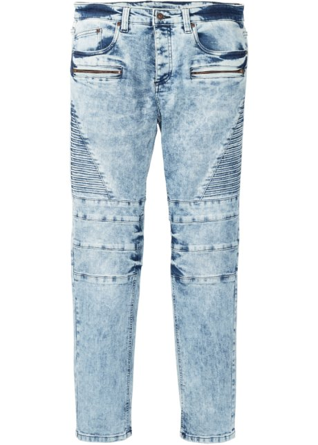 Jeans elasticizzati stile biker slim fit straight
