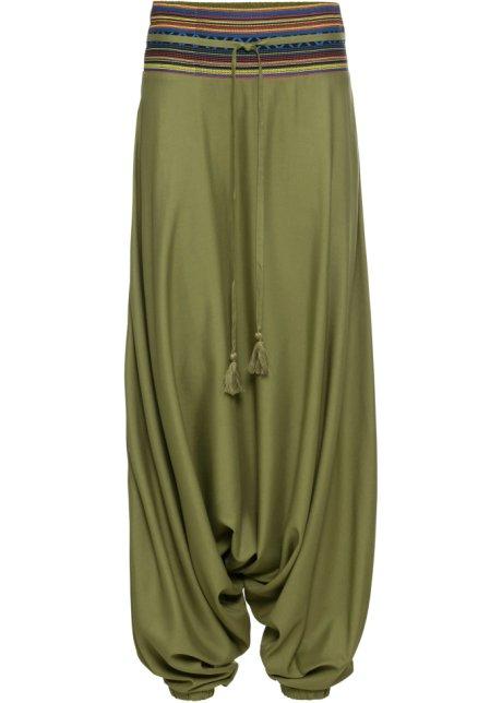 nuovo prodotto 9ca49 8a3c9 Pantaloni alla turca Verde oliva fantasia - Donna - bonprix.it