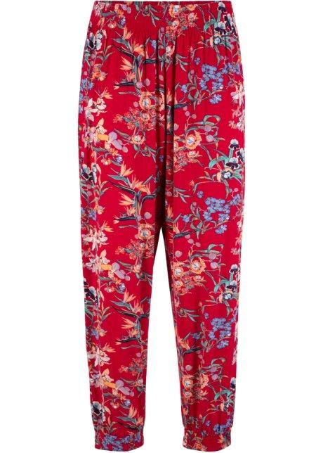 1a2899a66b0335 Pantaloni capri in maglina dal look disinvolto - Rosso fantasia