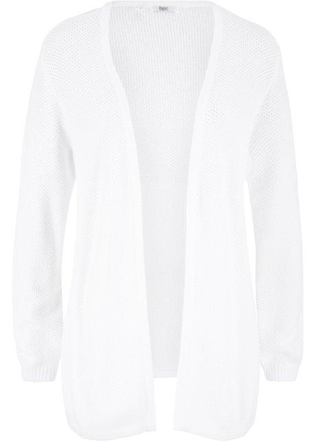 Cardigan Aperto In Cotone Effetto Uncinetto Bianco Bpc Bonprix
