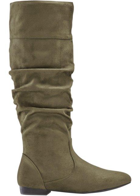 premium selection 5203a b11d6 Confortevoli stivali in similpelle scamosciata con gambale largo