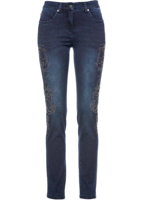 Jeans elasticizzati con ricamo