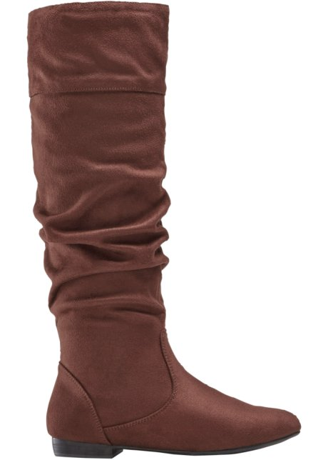 migliori scarpe da ginnastica 5927a 86ac0 Confortevoli stivali in similpelle scamosciata con gambale largo ...