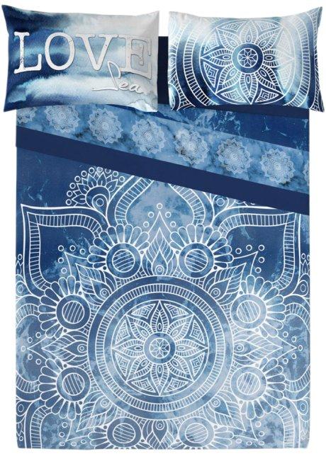 Bonprix Lenzuola Matrimoniali.Biancheria Letto Rosone Blu Azzurro Stampato Casa Bonprix It