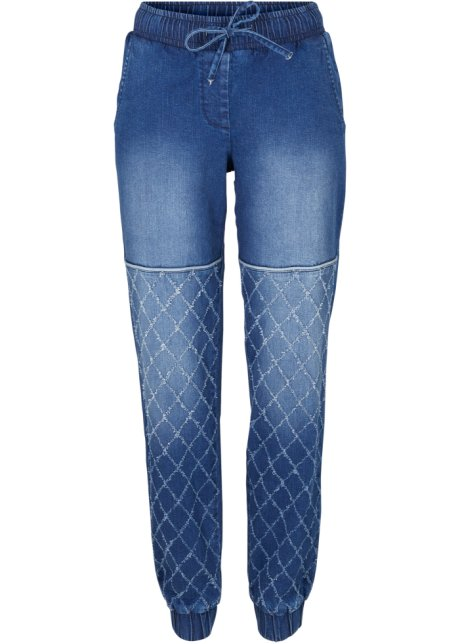maschio arrivo Economico  Jeans disinvolti in stile biker con polsini elastici e cinta comoda - Blu  stone, T.N.