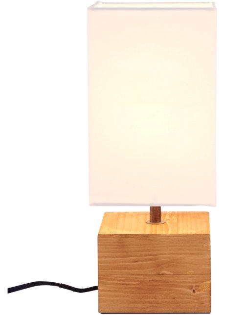 I Materiali Naturali Sono Assolutamente Trendy Lampada Da Tavolo Con Base In Legno Bianco Colore Naturale