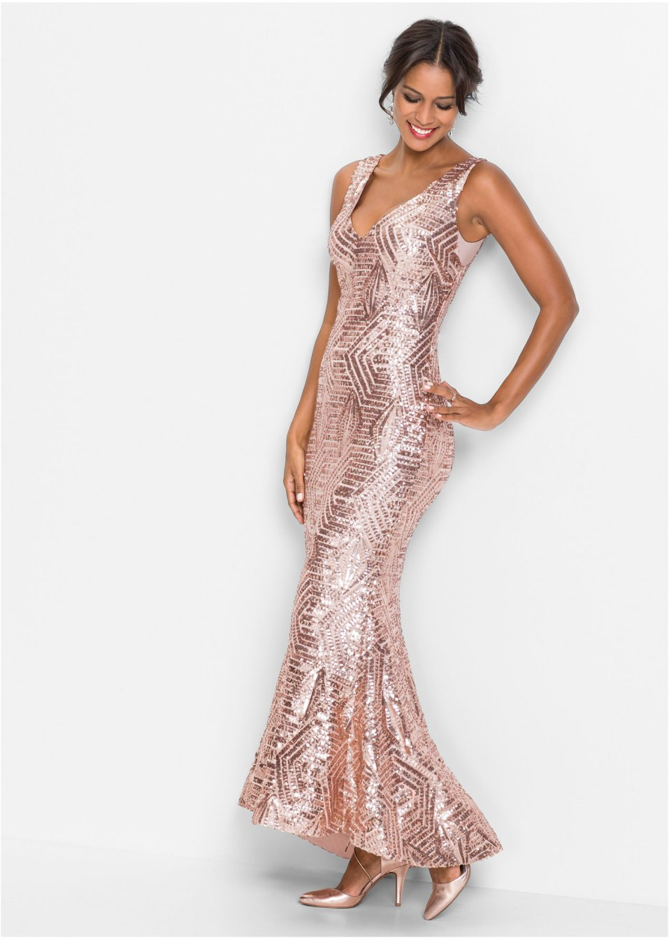 82147b1a03c6 Abito di paillettes Rosa quarzo - Donna - BODYFLIRT boutique - bonprix.it