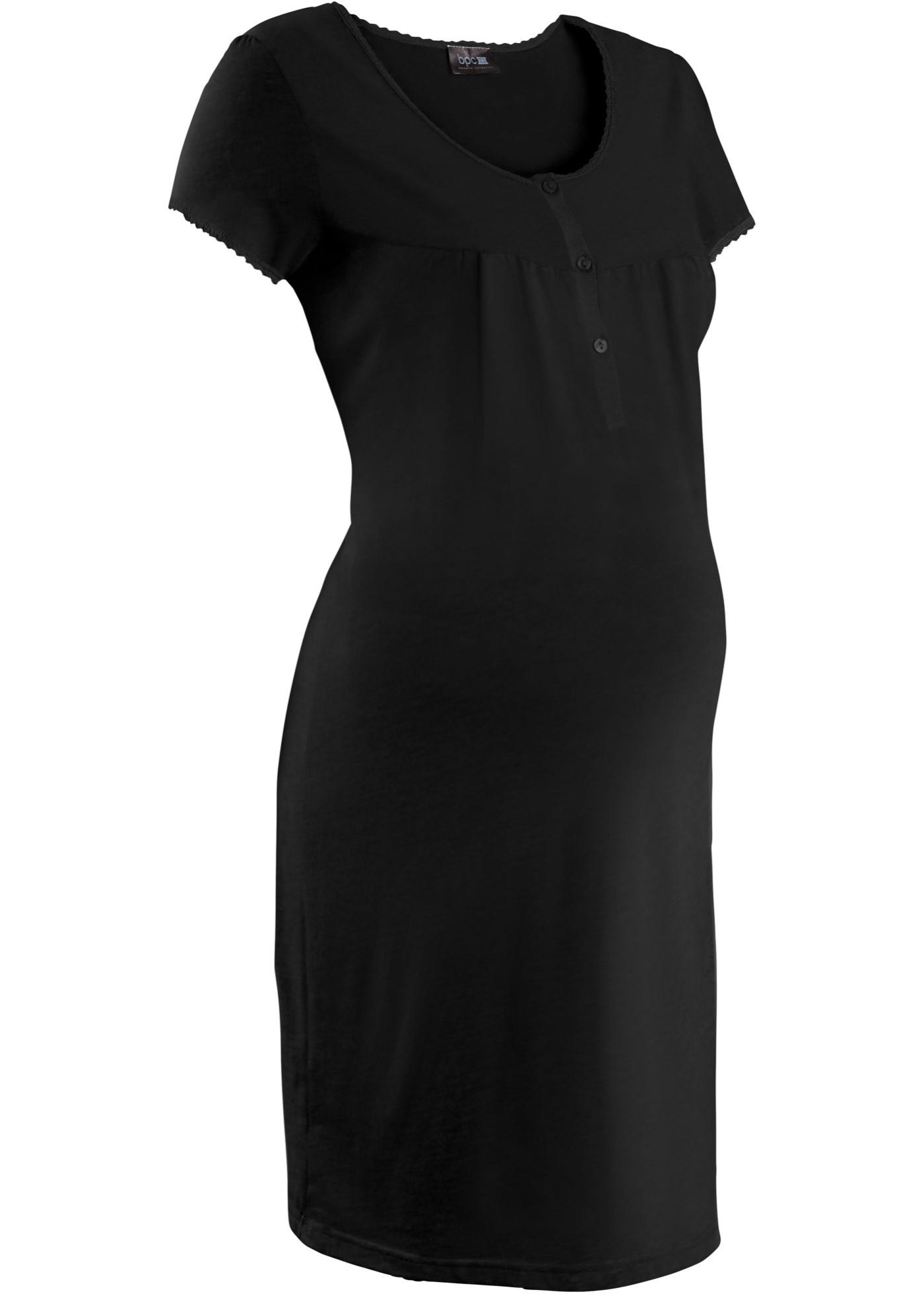 Camicia da notte prémaman (Nero) - bpc bonprix collection - Nice Size