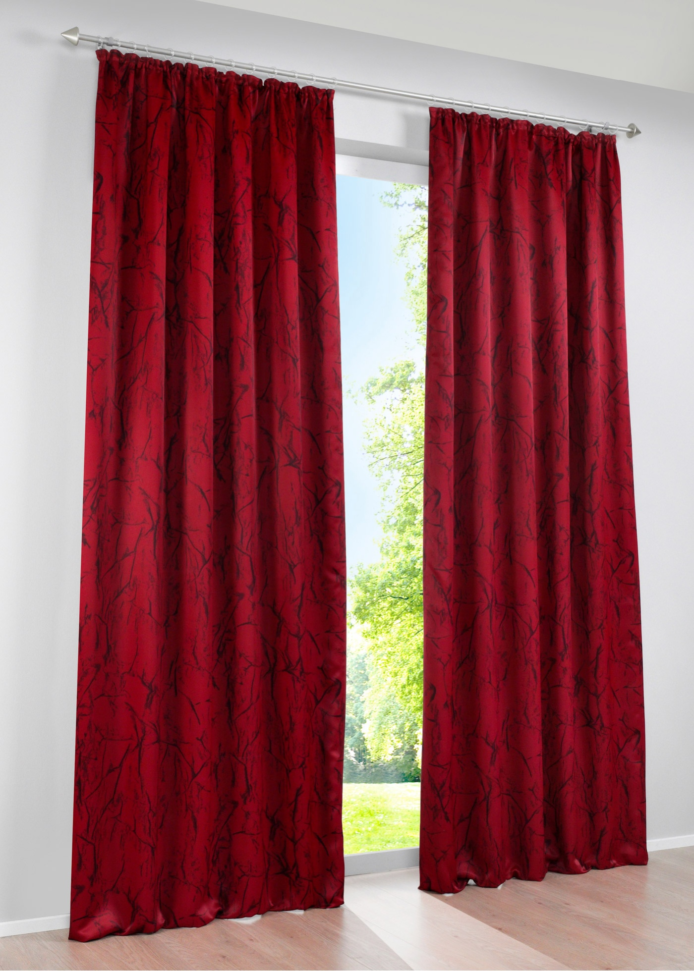 Tenda oscurante Gianna (pacco da 1) (Rosso) - bpc living