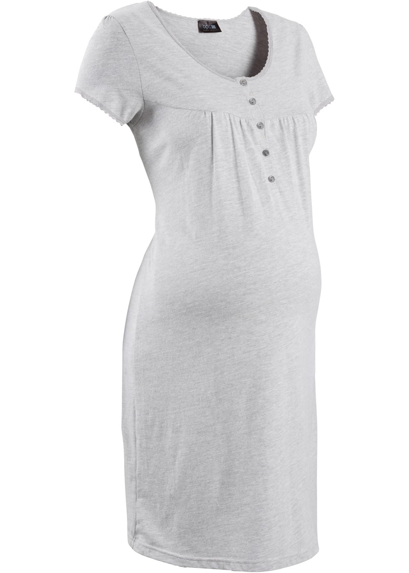 Camicia da notte prémaman (Grigio) - bpc bonprix collection - Nice Size